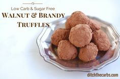 Sugar Free Walnut And Brandy Truffles