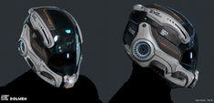 Futuristic Armour, Futuristic Art, Motorcycle Helmet Design, Astronaut Helmet, Science Fiction, Armor Clothing, Airsoft Mask, Sci Fi Armor, Biker