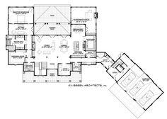 Country Style House Plan - 4 Beds 4.5 Baths 5274 Sq/Ft Plan #928-12 Floor Plan - Main Floor Plan - Houseplans.com