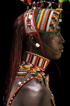 """Tribal photography taken in 2010 by belgian photographer Benoît Féron. - ""Tribal photography taken in 2010 by belgian photographer Benoît Féron. African Tribes, African Art, Kenya, Photographie Art Corps, Costume Africain, Arte Tribal, Tribal Art, Human Body Art, Body Art Photography"