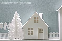Tutorial for creating Tiny Houses with your Silhouette - by Marji Roy of AshbeeDesign.com