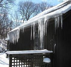 Icicles and snow load on roof Ice Dams, New England, Wisconsin, Construction, Snow, Building, Outdoor Decor, Buildings, Eyes