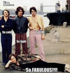 Such a weird picture of the Beatles, but I still love it <3