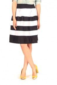 Black & White Monte Carlo Skirt