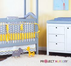 Yellow crib sheet makes the color POP