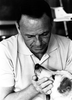 Frank Sinatra and his dog Ringo