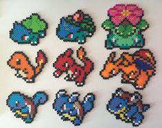 Starter Pokemon Gen 1 1-9: Bulbasaur Ivysaur by PixelPrecious