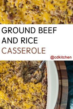 10 Most Misleading Foods That We Imagined Were Being Nutritious! An Easy Family Favorite. Ground Beef Is Mixed With Onion Soup Mix, Cream Of Mushroom Soup, Onion, And Rice And Baked In A Casserole Dish Until Done. Casserole Dishes, Casserole Recipes, Meat Recipes, Cooking Recipes, Healthy Recipes, Recipies, Beef Casserole, Weekly Recipes, Venison Recipes