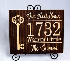 Our First Home Sign Housewarming Gift New Home Gift Home Sweet