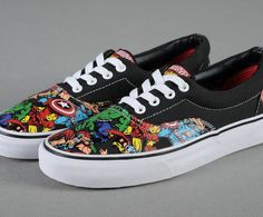 Marvel-Comics-Canvas-Shoes-Men-Women-The-Avengers-2-Low-Flats-Shoes-High-Quality-Avengers1