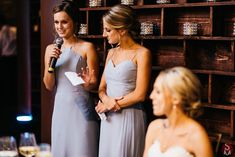 Bridemaids giving their speeches Wedding Reception Venues, Event Venues, Social Events, Corporate Events, Bridesmaid Dresses, Wedding Dresses, Strapless Dress, White Dress, United States