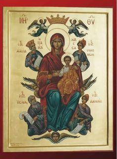 Mother's-Day - The Most Holy Virgin Queen of All Religious Images, Religious Icons, Religious Art, Blessed Mother Mary, Blessed Virgin Mary, Christian Artwork, Mama Mary, Mary And Jesus, Byzantine Icons