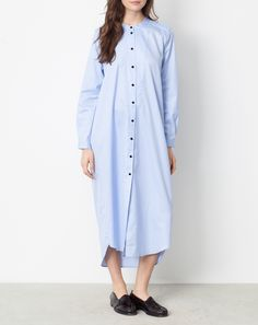 HUGE SALE! Up to 75% off! Rodebjer Aker Shirt Dress in Pale Blue