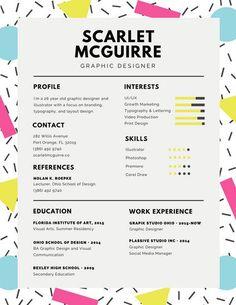 orange and white photo resume resume design pinterest photos