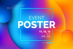 Abstract event poster template Free Vector | Free Vector #Freepik #vector #freebackground #freebanner #freeabstract-background #freeposter Event Poster Template, Event Poster Design, Graphic Design Posters, Graphic Design Inspiration, Event Posters, Facebook Cover Design, Facebook Timeline Covers, Vintage Grunge, Free Banner