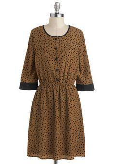 Coffee and Cocoa Dress, #ModCloth