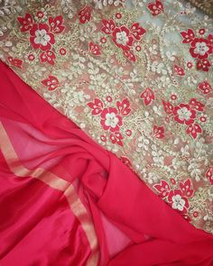 Red georgette saree with satin border and heavy Emboridery blouse piece To purchase this product mail us at houseof2@live.com  or whatsapp us on +919833411702 for further detail #sari #saree #sarees #sareeday #sareelove #sequin #silver #traditional #ThePhotoDiary #traditionalwear #india #indian #instagood #indianwear #indooutfits #lacenet #fashion #fashion #fashionblogger #print #houseof2 #indianbride #indianwedding #indianfashion #bride #indianfashionblogger #indianstyle #indianfashion…