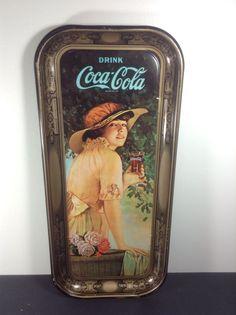 1973 Coca Cola Tray Vintage Soda Fountain Diner  #coke #cocacola #advertising #vintage #1973 #diner #generalstore #soda #pop