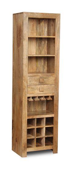 Indian Wooden Dakota Display Unit/Wine Rack made from Mango Wood