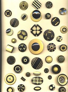 Old button... these are Black and Cream Celluloid Buttons
