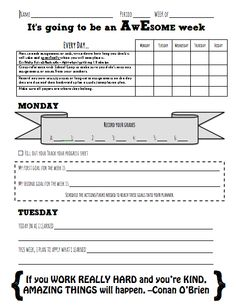 Student academic goal setting sheets goal school and for Avid learning log template