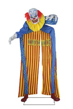 Amusing LOOMING CLOWN ANIMATED PROP. Incredible range of Clown Animated Props for Halloween at CostumePub. Animated Halloween Props, Halloween Masks, Scary Halloween, Spirit Halloween, Halloween Lawn Decorations, Scary Decorations, Christmas Decorations, Halloween Animatronics, Trick Or Treat Studios