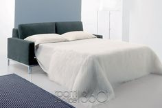 Emilio Italian Sleeper Sofa with the Bed Pulled Out by Bonaldo
