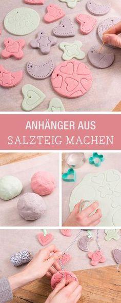 Bunte Anhänger aus Salzteig selbermachen / christmas ornaments made of salt dough via DaWanda.com