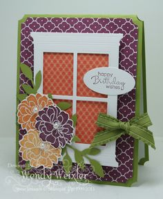 Stamps: Fabulous Florets, Petite Pairs  Paper: Lucky Limeade, Whisper White, Summer Smooches  Ink: Pumpkin Pie, Peach Parfait, Rich Razzleberry  Accessories: Little Leaves Sizzlets Die, Poppy Stamps Grand WIndow Die, Large Oval Punch, Lucky Limeade Ruffled Ribbon, Ticket Corner Punch, Pearl Basics