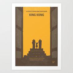 No133 My KING KONG minimal movie poster Art Print by Chungkong - $18.00