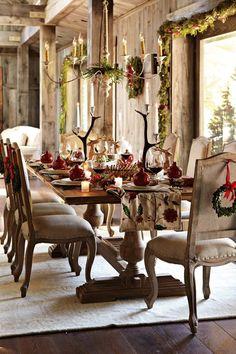 Elegant Rustic Christmas | via The Little Corner