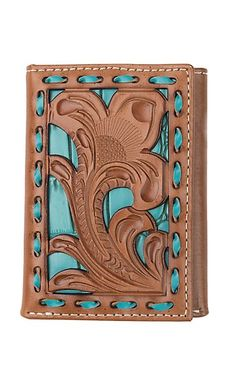 Turquoise Jewelry Outfit Nocona Tan Filigree with Turquoise Underlay Trifold Wallet Cowgirl Jewelry, Western Jewelry, Diy Wardrobe, Cowboy And Cowgirl, Country Chic, Turquoise Jewelry, Stone Jewelry, Leather Craft, Filigree