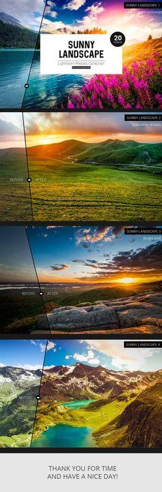 Sunny Landscape Lightroom Presets. Download here: https://graphicriver.net/item/sunny-landscape-lightroom-presets/17654527?ref=ksioks (scheduled via http://www.tailwindapp.com?utm_source=pinterest&utm_medium=twpin)