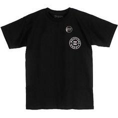 BRIXTON OATH S/S TEE MENS 21406281010 Black  Standard Fit T-Shirt Size S