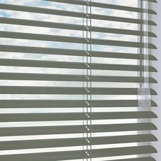 Daylight Gloss Graphite Aluminium Venetian in Grey. This Aluminium Venetian includes guarantee and child safety features. Fitted Blinds, Curtains With Blinds, Venetian, Graphite, Bathrooms, Metallic, Home Decor, Graffiti, Decoration Home