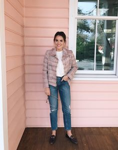GMG Now Daily Look 1-23-17 - Miu Miu jacket, The Great Tee, MOTHER jeans & Gucci loafers