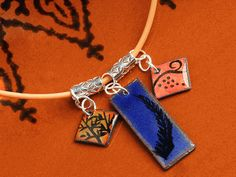 Jewelry Making Designs - Earth, Wind and Fire Necklace