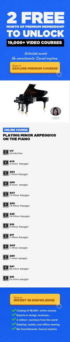 Playing Minor Arpeggios on the Piano Music Composition, Music Education, Music Fundamentals, Music Production, Piano, Creative #onlinecourses #CoursesOrganisation #learningstrategies   This class is dedicated to every piano student that wants to learn to play minor arpeggios, if you are already taking piano lessons you may know by now that arpeggios are an important part of the piano technique. ...