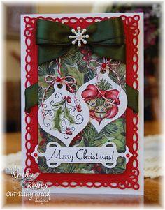 ODBDSLC132 Deck the Halls stamps ODBD Holiday Ornaments -  Designer Kathy Roney