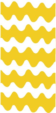 Marimekko Lokki White / Yellow Fabric Summer collides with a classic, mod pattern in the Marimekko Lokki Fabric. Designed by Maija Isola in the this timeless wavy pattern receives an updated color scheme from daughter Kristina Isola. Marimekko Wallpaper, Marimekko Fabric, Pattern Wallpaper, Textile Patterns, Textile Design, Print Patterns, Floral Patterns, Zentangle, African Textiles