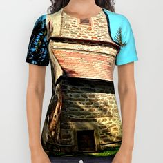 Buy Maria Rast forest chapel 3 All Over Print Shirt by Patrick Jobst. Worldwide shipping available at Society6.com. Just one of millions of high quality products available. American Apparel, Printed Shirts, Unisex, Cotton, Mens Tops, T Shirt, Stuff To Buy, Products, Women