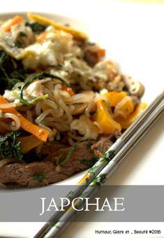 Japchae (Corée) : Nouilles de patate douce sautées au boeuf et aux légumes
