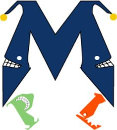 """This was a logo I designed for my non-existant production company back in college. The """"M"""" is modeled after jesters and the """"P"""" and """"L"""" are just creepy smiling letters."""