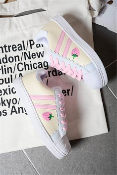 """Cute students sneaker use this code """"cherry blossom"""" Get 10% off everytime you shop at www.sanrense.com  Greetings -Candy kawaii Style"""