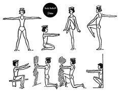 Body Ballet®: Mantén la cabeza erguida. Debemos vigilar constantemente, sobre todo al principio de las clases de Body Ballet®, la posición de nuestro cuerpo, manteniendo la espalda derecha, hasta que la costumbre haga que adoptemos la postura correcta sin ningún esfuerzo y de forma inconsciente.
