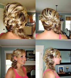 .my prom hair. my sister and I just kinda made it up as we went along.