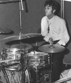 It's April 1967 and John is touching Ringo's Ludwig Drumkit and he is gonna be pissed.