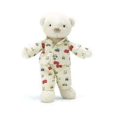Jellykitten - Bedtime Bear Simple colour with subtle print pj's