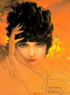 Art Nouveau Art Deco Rolf Armstrong Dream Girl Woman in Pearls Rolf Armstrong, Pinup Art, Gil Elvgren, Illustration Art Nouveau, Beauty Illustration, Estilo Pin Up, Art Deco, Portraits, Living At Home