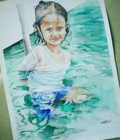 koko poniman watercolor painting 2016